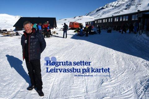 – Vi merker at det er mange fra Sverige, Danmark og Mellom-Europa som går Høgruta. I tillegg har Høgruta ført til at samarbeidet mellom turisthyttene er mye tettere enn før. Det setter jeg veldig stor pris på, sier vert ved Leirvassbu, Ole Jacob Grindvold.