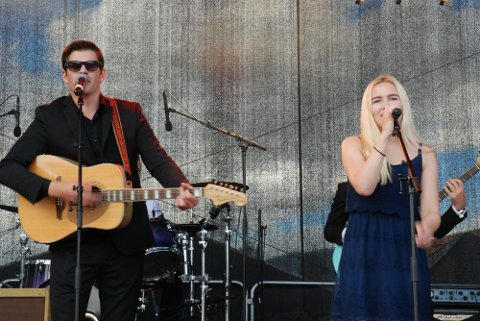 Martin Øvstehage og Martine Haugen imponerte sammen med resten av Get Rhythm.