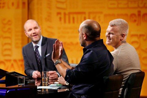 Bård Tufte Johansen, Johan Golden og John Arne Riise spøkte om Kvam-kunsten.