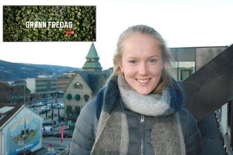 GRØNN BYTTEFREDAG: Ane Grøneng er styremedlem og markedsførings- og pr-ansvarlig i DNT ung Lillehammer.