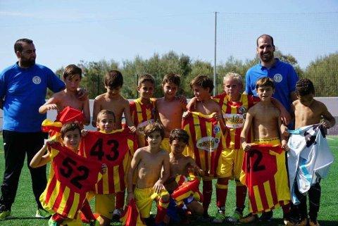 Laget mitt, Benalmadena Atletico, Benjamin, equipo A. Vi har vunnet en treningskamp!