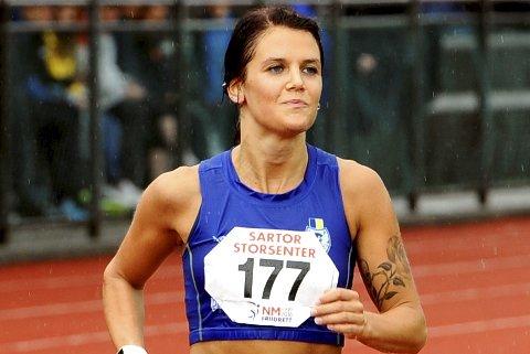 REKORD: Marte Flatlien i aksjon på 10.000-meter i NM.
