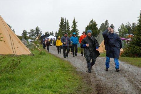 Festivalcampen var preget av regnponchoer under fjorårets festival.