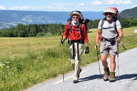 VAKKERT: Norge er vakkert, og her ved Sæther gård på Ring er utsikten helt praktfull sier Tilli Erwin og Betz Dieter.