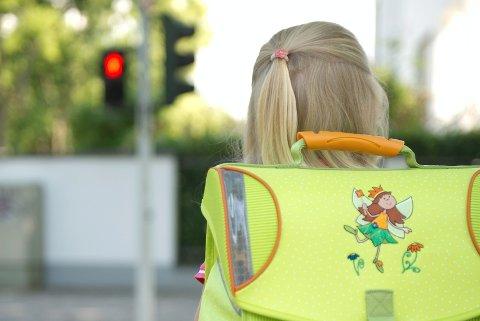 TRYGG: Hensikten med «hjertesonen» er å bedre trafikksikkerheten ved Nordre ål barneskole. Illustrasjonsfoto: Scanpix