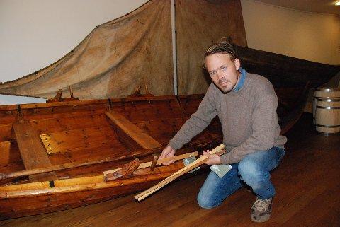 ALENSTAV: Simen Omang er prosjektleder i Norsk håndverksinstitutt på Maihaugen.