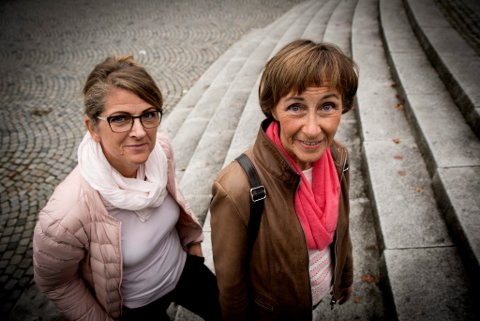 Dagrun Henden (til høyre) og Freyja Gisladottir er to av mange som sliter med senskader etter brystkreftbehandling.