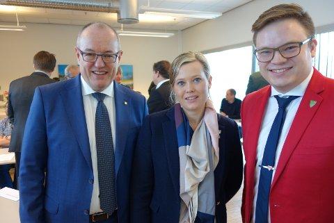 Rektor ved NTNU Gunnar Bovim, leder av Komité for næring i Oppland fylkeskommune, Kjersti Bjørnstad (Sp) og fylkesordfører Even Aleksander Hagen (Ap) er enige i at det er svært viktig å satse på cyber- og informasjonssikkerhet.