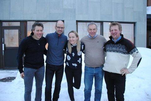 Valgkomiteen: f.v Alf Bernhard Ouren, Jon Waalen, Ellen Marie Gjeilo, Andreas Høiby og Henrik Grøndalen.