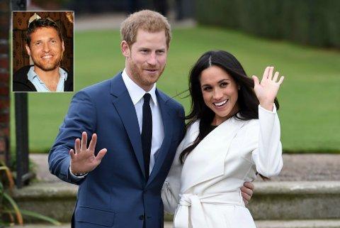 TIL STEDE: Inge Solheim fra Otta var lørdag på plass da prins Harry giftet seg med skuespiller Meghan Markle i England.