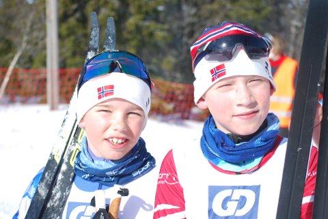 BESTEKAMERATER: Halvor Melbø (t.v.) og Eirik Solbrekke var raskest i guttenes 11-årsklasse.