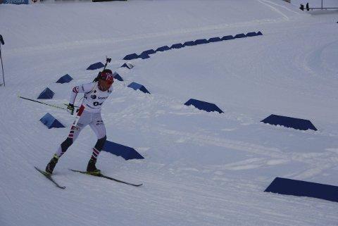 GOD ETAPPE: Hans Ruud fra Tingelstad gikk andre etappe for Opplands førstelag i klasse 17–21 år, og reiser hjem fra junior-NM med en bronsemedalje i kofferten.