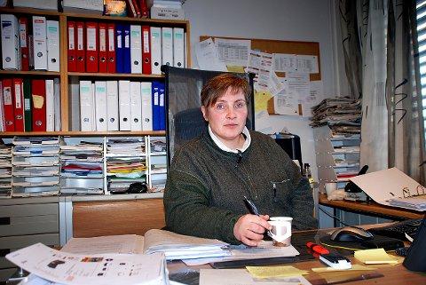 TILBAKE: Sissel Gerhardsen Røine tilbake som kulturskolerektor, her bak kontorpulten på Granvang i 2009.