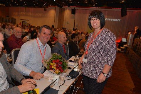 Uenige: LO-leder Hans-Christian Gabrielsen og Else Randi Kolby er vel forlikte, til tross for uenighet.