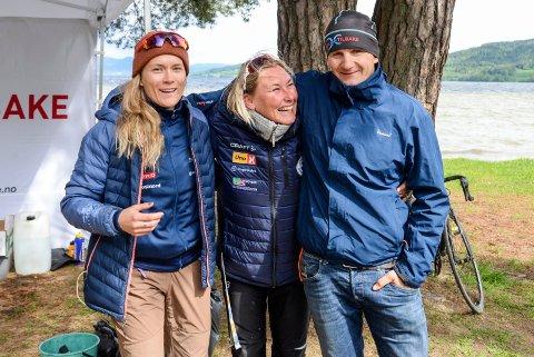 Prosjektleder Kirsti Ruud, Tone Midtsveen og Thomas Kjelland var fornøyde etter den første treningssamlingen på Haugerstranda.
