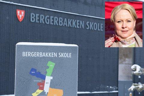 SMITTE: Bergerbakken skole sender 80 elever i karantene etter smittetilfelle. – Vi er dessverre ikke overrasket over at en elev er smittet, sier kommuneoverlege Marthe Amanda Ottersen Bergli.