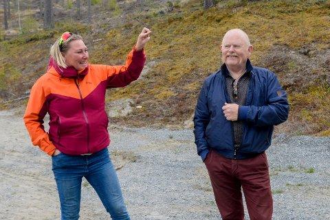 STORE PLANER: Tone Midtsveen og Geir Olsen i Puttemyras venner har ambisjoner om et superflott anlegg med mange aktivitetsmuligheter på Puttemyra.