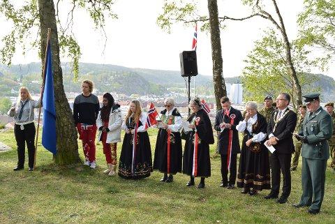 RØDSBERGET: 17. mai, her fra Minnetempelet på Rødsberget for to år siden.