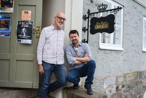 KONKURS: Dag Brandth og Adrian Plaskett har drevet «Den Gamle Kommandant» siden 2016, men nå er det over.