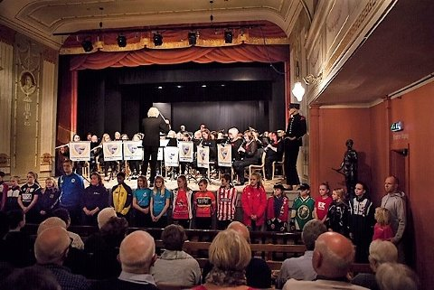 MUSIKALSK I TEATERET: Tistedalens Musikforening holdt en flott konsert i Fredrikshalds Teater.