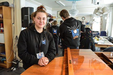 LÆRERIKT: Julie Lillevold Skaug var produsent av fredagens to konserter under Bom Kræsj Bang. – En lærerik og morsom uke, sier hun om kulturfestivalen.