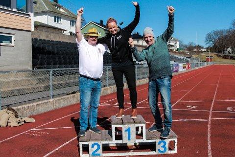 Håper på løpsfest i Halden. f.v. Ottar Kvitnes, Veronika Lund og Ton Frenay