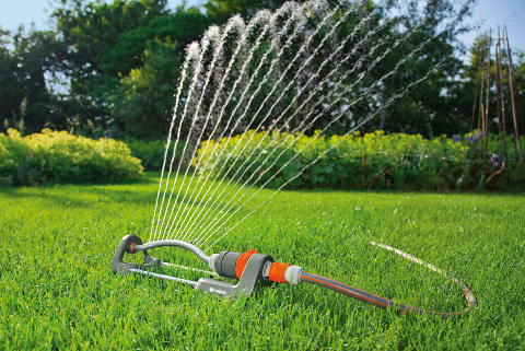 VANNINGSFORBUD: Det innføres vanningsforbud i Halden.  Arkivfoto.