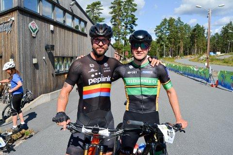 SAMARBEIDET: Stian Mjølnerød-Lie og Sindre Sagbakken holdt luka ned til de andre løpet gjennom.