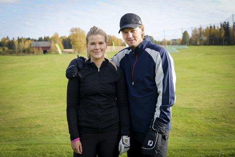 TRENER SAMMEN: Veslemøy K. Heramb og trener Marcus Thim.Foto: Jan Morten Frengstad