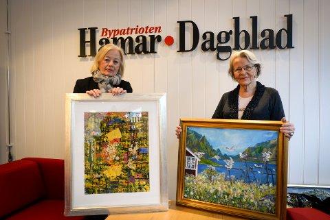 IGJEN: Turid Bøhn-Lie og Kirste Haaland stiller igjen ut i Kreftforeningens lokaler.