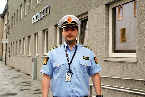 INGEN BESLAG: Seksjonsleder Asgeir Aule hos politiet sier at det ikke er gjort beslag av det narkotiske stoffet MDMA i Hammerfest. Foto: Trond Ivar Lunga
