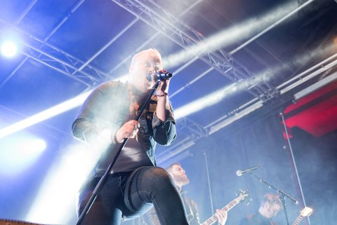 Tiebreaker-vokalist Thomas Espeland her under en konsert i Skalltaket for noen uker siden.