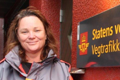 Kjersti Hovemoen, faggruppeleder for veginformasjon hos Vegtrafikksentralen.