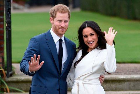 I november i fjor ble forlovelsen mellom Storbritannias prins Harry og skuespilleren Meghan Markle offentliggjort. Lørdag gifter de to seg i Windsor like utenfor London.