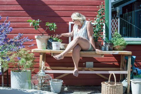 Juli 2018. Kolonihagen til Siri Ornelia Vikse.