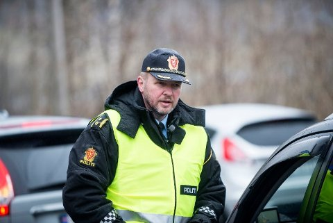 ØKNING: Distriktsleder Terje Oksnes sier det har vært en betydelig økning i førerkortbeslag på Haugalandet i år, og spesielt de siste ukene.
