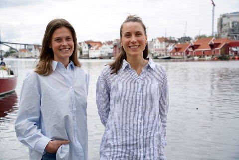 KOORDINERTE: Interiørarkitektene Caroline Smedsvig og Irene Birkeland er like på mange områder, og tror selv at det er derfor de jobber så godt sammen.