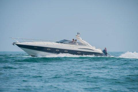 Det  var en båt av denne typen tvisten handlet om. En 17 år gammel Sunseeker Camargue 44.