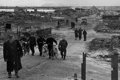 Skjult historie: I Vadsø kjenner nok de fleste til hva som skjedde 23. august 1944, da byen ble bombet av russiske styrker. Men lenger sørpå er denne delen av historien fremmed. Foto: Hjemmefrontmuseet
