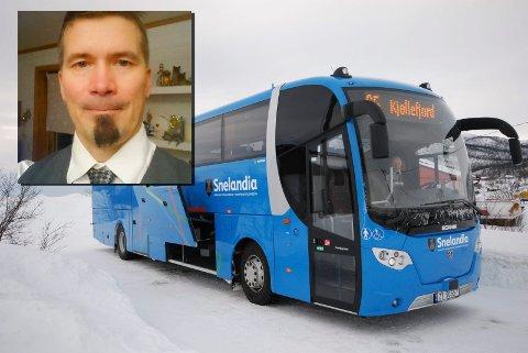 FOR DÅRLIG: Pasi Karjalainen er oppgitt over busstilbudet mellom Neiden og Kirkenes.