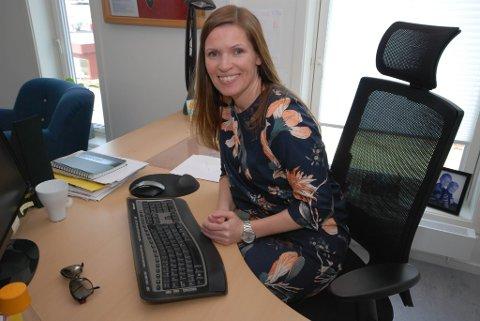 STORFORNØYD: Etter valget forlater Stine Akselsen ordførerstolen for å bli fagsjef i Sjømat Norge. Hun gleder seg stort til jobben.