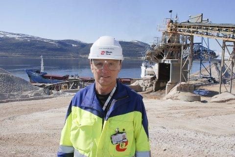SPONSER: Daglig leder Rune Martinussen i Elkem Tana vi bidra til bredband til folk i Austertana-området.