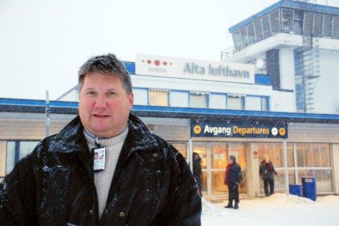 KREVENDE: Charles Kristiansen er den eneste lufthavnsjefen i Finnmark med over én million kroner i inntekt gjennom jobben.