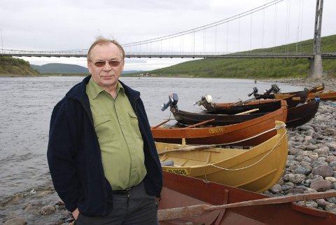 AVTALE BRUDD: Leder Reidar Varsi i Tanavassdragets fiskeforvalning mener Finland bryter Tana-avtalen med de regler som er innført gjennom ny lovtolkning.