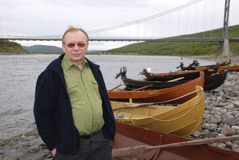 SKUFFET: Leder Reidar Varsi i Tanavassdragets fiskeforvaltning er skuffet over at en samlet kontrollkomité, ikke vil instruere statsråden til å protestere mot nye rettigheter til finske hytteeiere.
