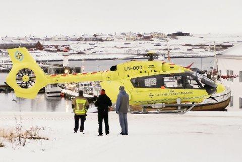 RYKKET UT: Alle nødetatene rykket ut til arbeidsulykke i Vardsø mandag.