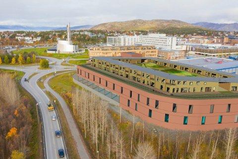20 LEILIGHETER: Illustrasjon av det nye kjøpesenteret som HENT skal bygge. Sammen med Østlyngen Eiendom og ARC Arkitekter har de jobbet med å utvikle prosjektet i to år.