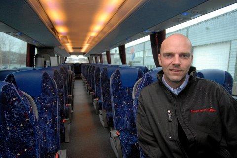 KOMPENSASJON: Busscherater.no AS har mottatt tilskudd fra staten for tapt omsetning som følge av koronapandemien. Bildet viser daglig leder og styreleder, Hans Eirik Svepstad.