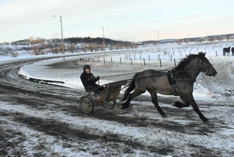 SÅ FINT UT: Holene Stjernen og Kurt Ingar Skaanes i et siste finpuss på Nossum før kveldens løp på Leangen. Det så lovende ut.