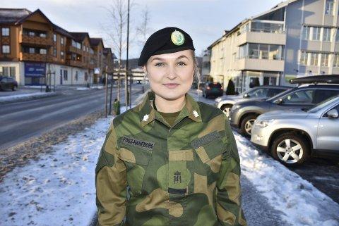 Gleder seg: Etter et halvt år med hard jobbing i forsvaret ser Matine Foss-Haneborg frem til å slappe av i juleferien.